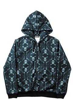 ZIP PARKA -X-RAY SKULL- ALL-SKL