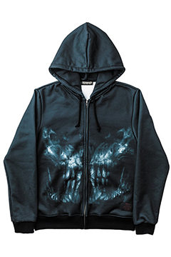 ZIP PARKA -X-RAY SKULL- BIG-SKL
