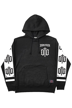 LIGHT WEIGHT PARKA-ENGRAVE- BLK-WHT-SLE