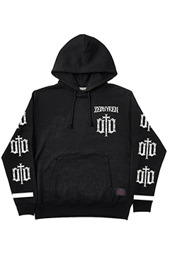 LIGHT WEIGHT PARKA-ENGRAVE- BLK-WHT