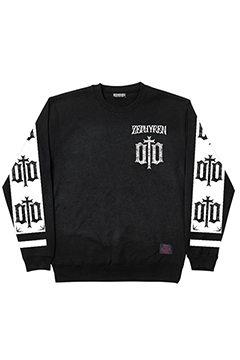LIGHT WEIGHT SWEAT-ENGRAVE- BLK-WHT-SLE