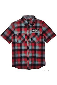 EMBLEM SHIRT S/S RED-CHECK