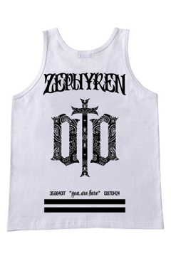 TANK TOP -ENGRAVE- WHITE