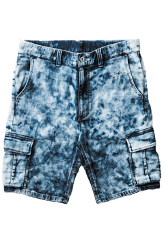 DENIM SWEAT CARGO SHORTS INDIGO.DENIM