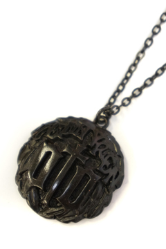 METAL NECKLACE-ENGRAVE- BLACK