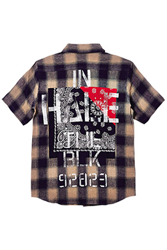 BANDANA SHIRT S/S-Inhale the black- WHITE
