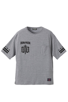 BIG S/S TEE -ENGRAVE- GRAY