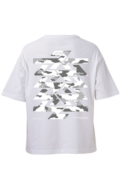 BIG S/S TEE -Cut the world- WHITE
