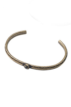 Zephyren (ゼファレン) METAL BANGLE -HOLLY- ANTIQUE GOLD