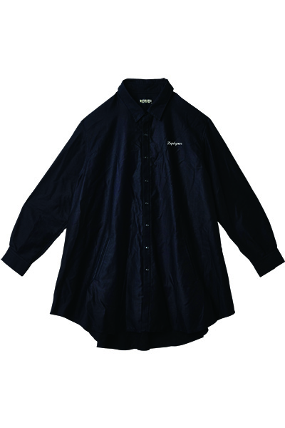 Zephyren (ゼファレン) PONCHO SHIRT L/S -Resolve- BLACK