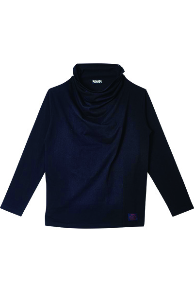 Zephyren (ゼファレン) DRAPE HI NECK L/S BLACK