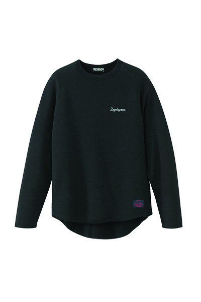 Zephyren (ゼファレン) CUT OFF SWEAT -Resolve- BLACK