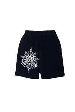 Zephyren (ゼファレン) SWEAT SHORTS -MOON- BLACK