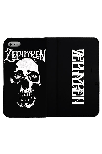 【予約商品】Zephyren (ゼファレン) FLIP iPhone 8 CASE -SkullHead- BLACK
