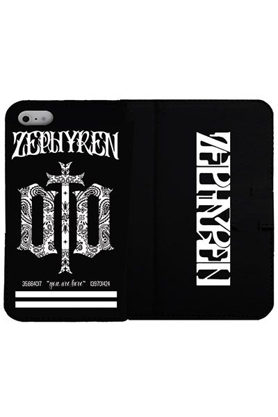 Zephyren (ゼファレン) FLIP iPhone X CASE -ENGRAVE- BLACK