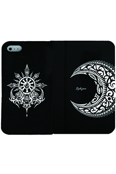 Zephyren (ゼファレン) FLIP iPhone X CASE -MOON- BLACK