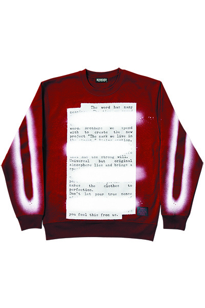Zephyren (ゼファレン) SWEAT -PLEDGE- BURGUNDY