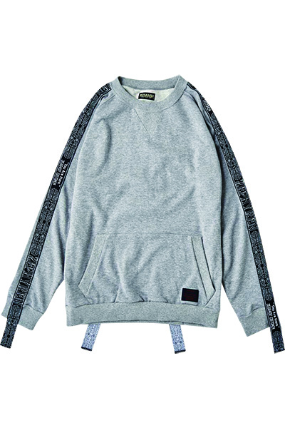 Zephyren (ゼファレン) LONG TAPE SWEAT GRAY