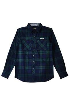Zephyren (ゼファレン) CHECK SHIRT L/S -Resolve- GREEN