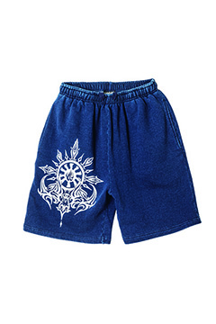 Zephyren (ゼファレン) SWEAT SHORTS -MOON- INDIGO