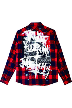 Zephyren (ゼファレン) BANDANA SHIRT L/S -TRUST- RED