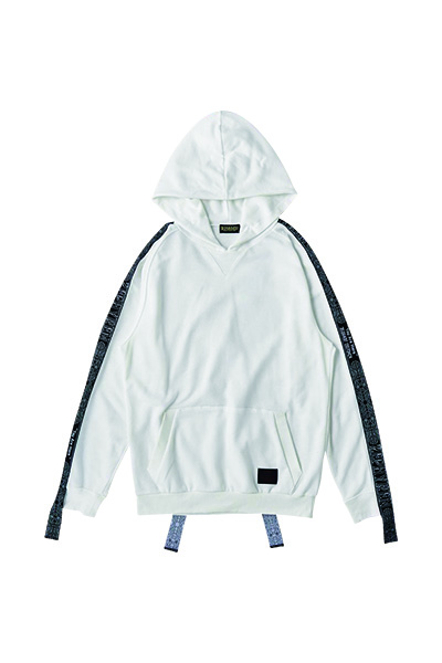 Zephyren (ゼファレン) LONG TAPE PARKA WHITE