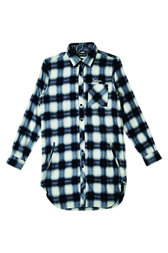 Zephyren (ゼファレン) LONG SHIRT L/S -Resolve- WHITE CHECK
