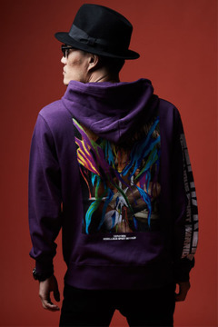 ZIP PARKA - GIRL TATTOO - PURPLE
