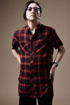 SWITCHING SHIRT S/S RED
