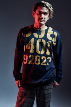 PEINTED SWEAT NAVY