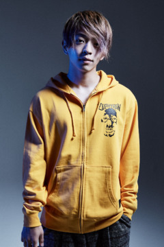 ZIP PARKA - SKULL HEAD - YELLOW