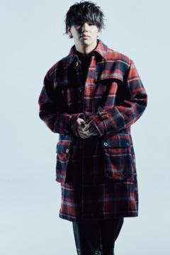 【予約商品】Zephyren(ゼファレン) LONG COAT RED / CHECK