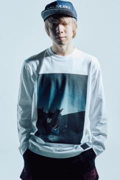 L/S TEE - 宙 - WHITE